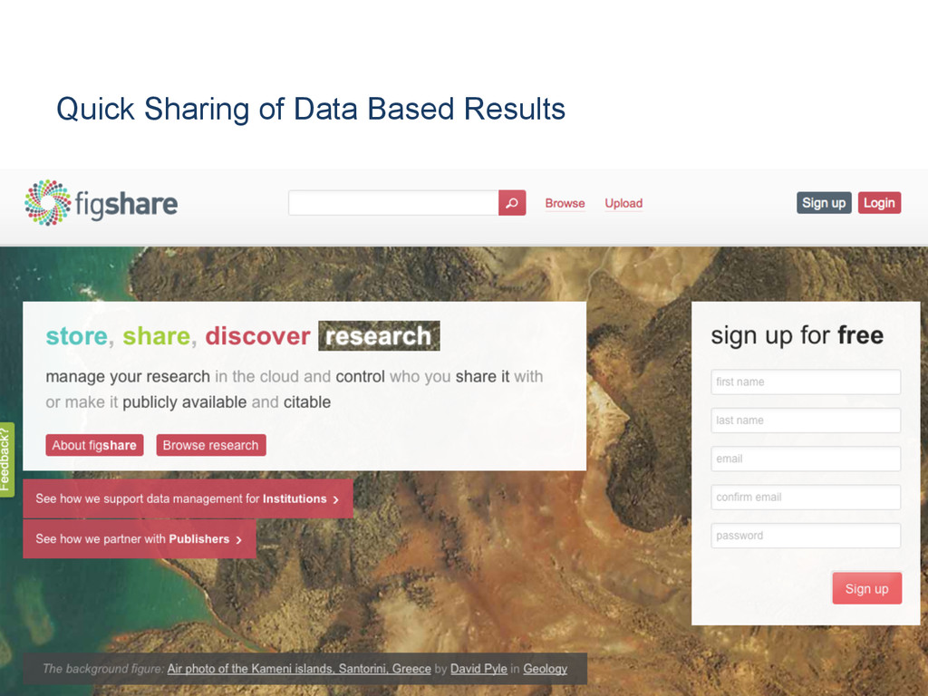 Quick Sharing of Data Based Results [Anlass der...
