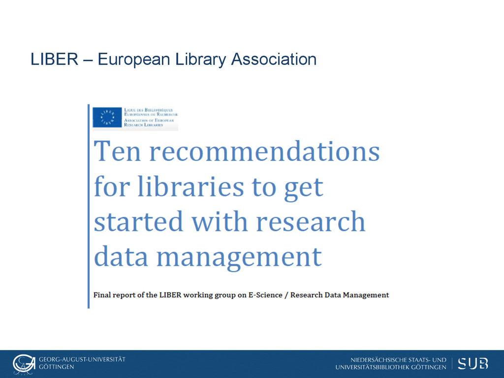 LIBER – European Library Association