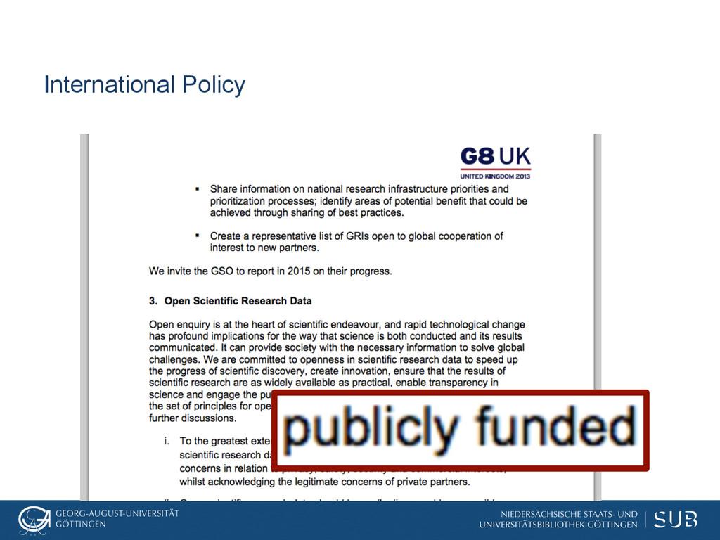 International Policy