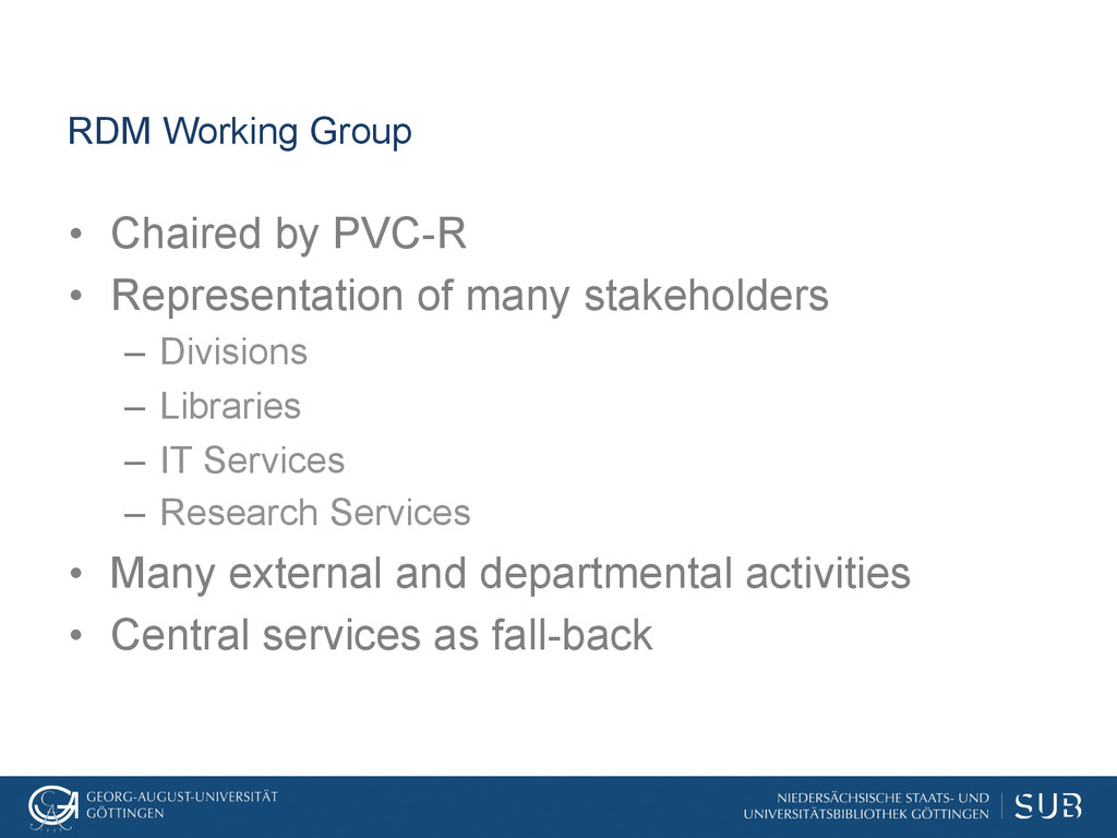 RDM Working Group • Chaired by PVC-R • Repres...