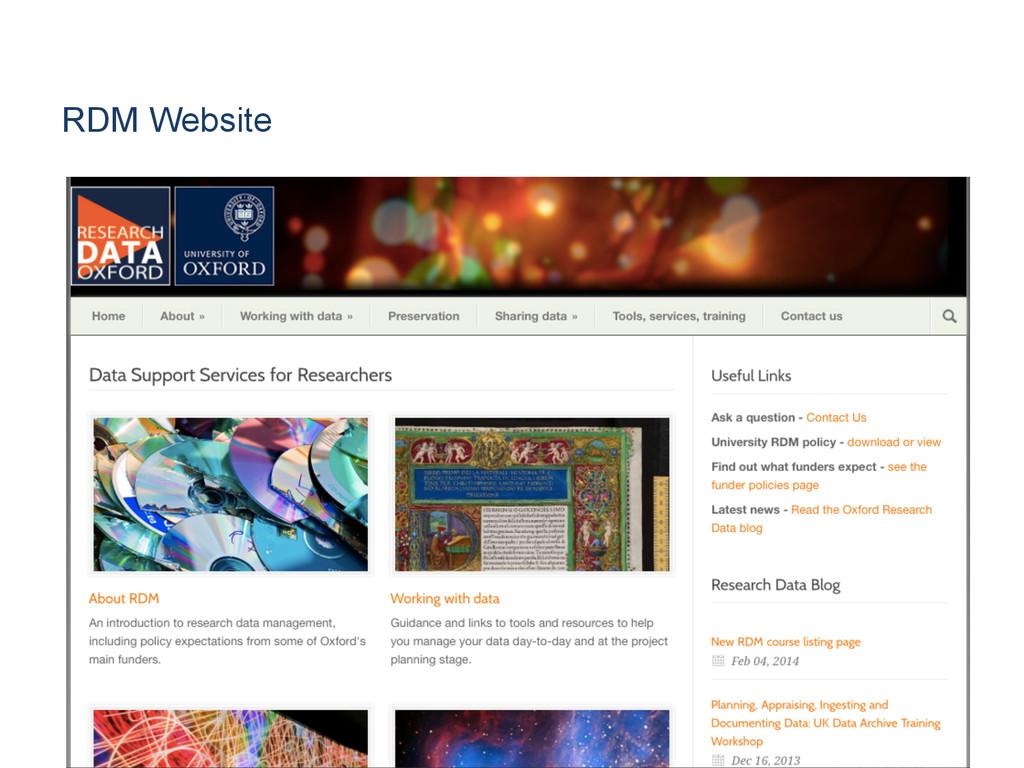 RDM Website