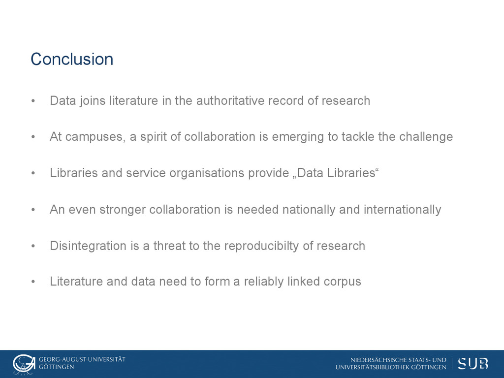 Conclusion • Data joins literature in the auth...