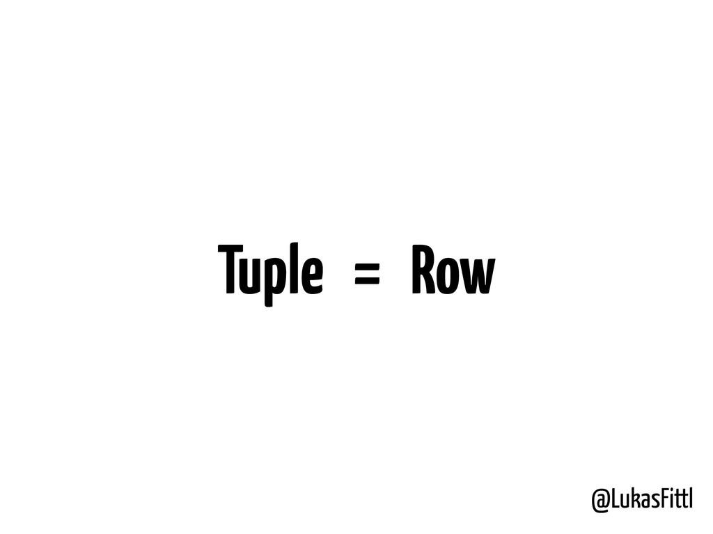 @LukasFittl Tuple = Row