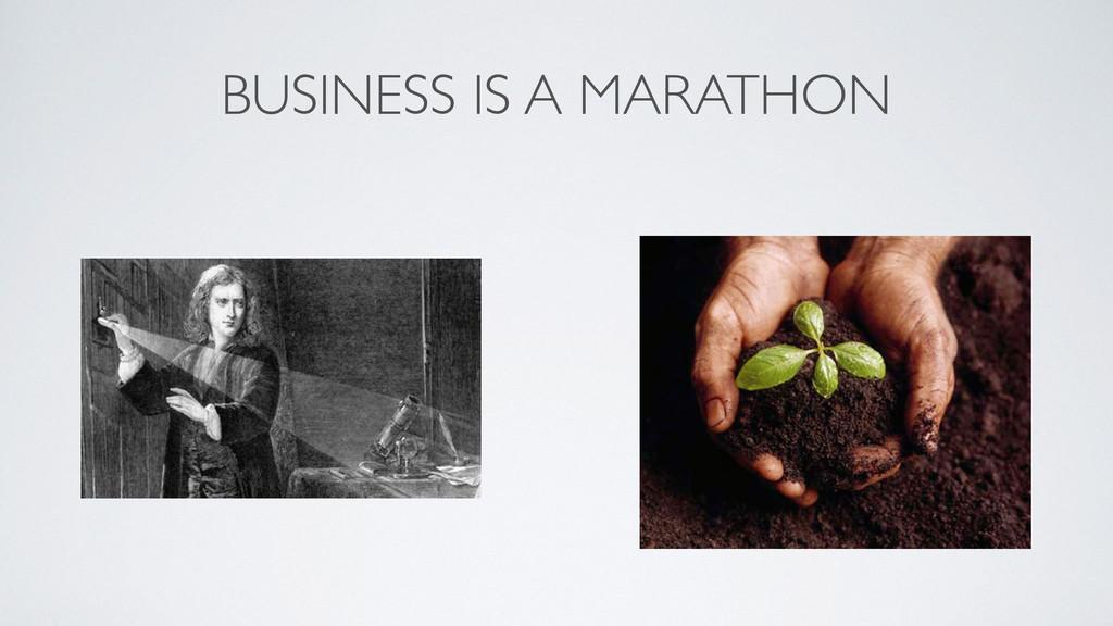 BUSINESS IS A MARATHON