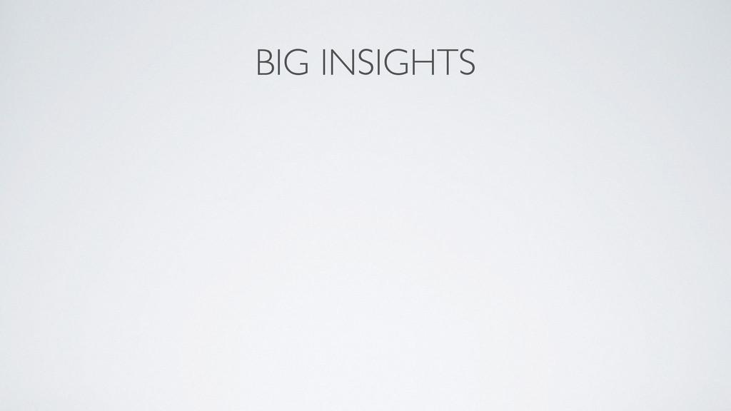 BIG INSIGHTS