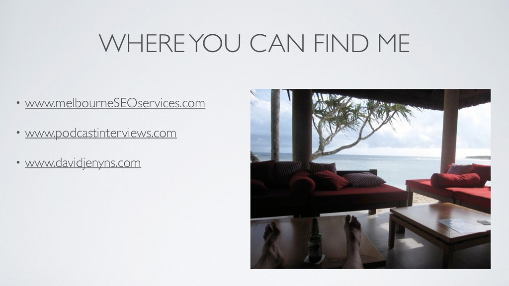WHERE YOU CAN FIND ME • www.melbourneSEOservice...