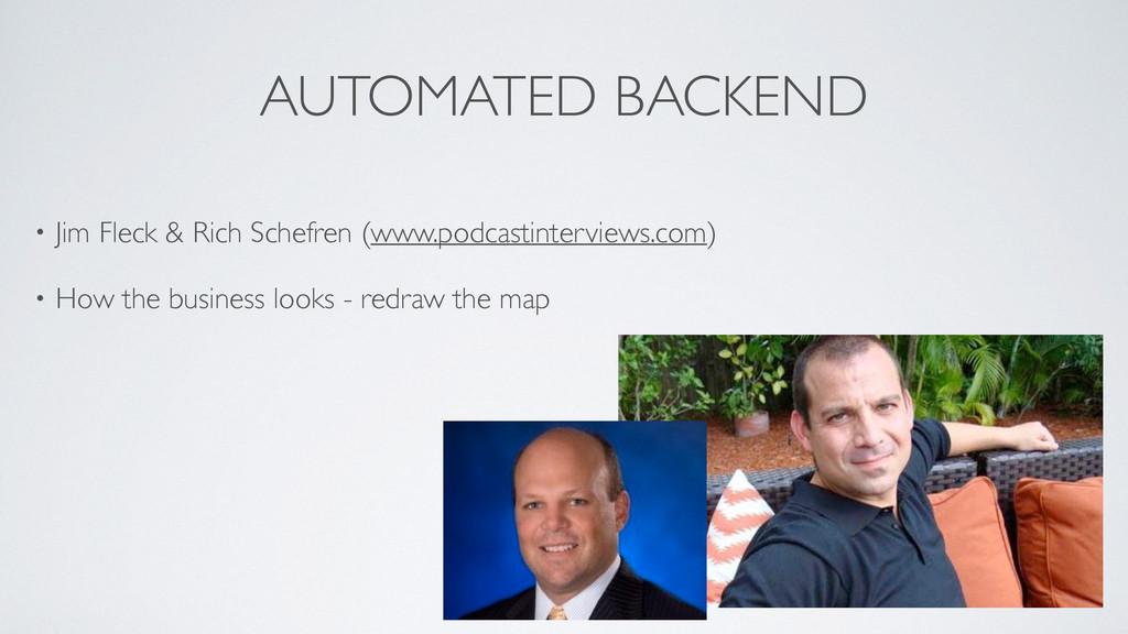 AUTOMATED BACKEND • Jim Fleck & Rich Schefren (...