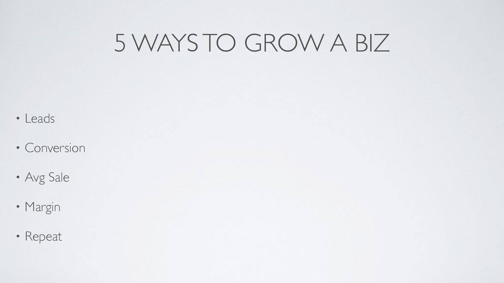 5 WAYS TO GROW A BIZ • Leads  • Conversion ...