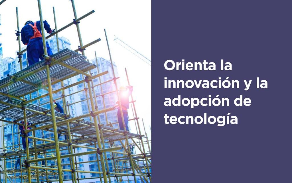 Orienta la innovación y la adopción de tecnolog...