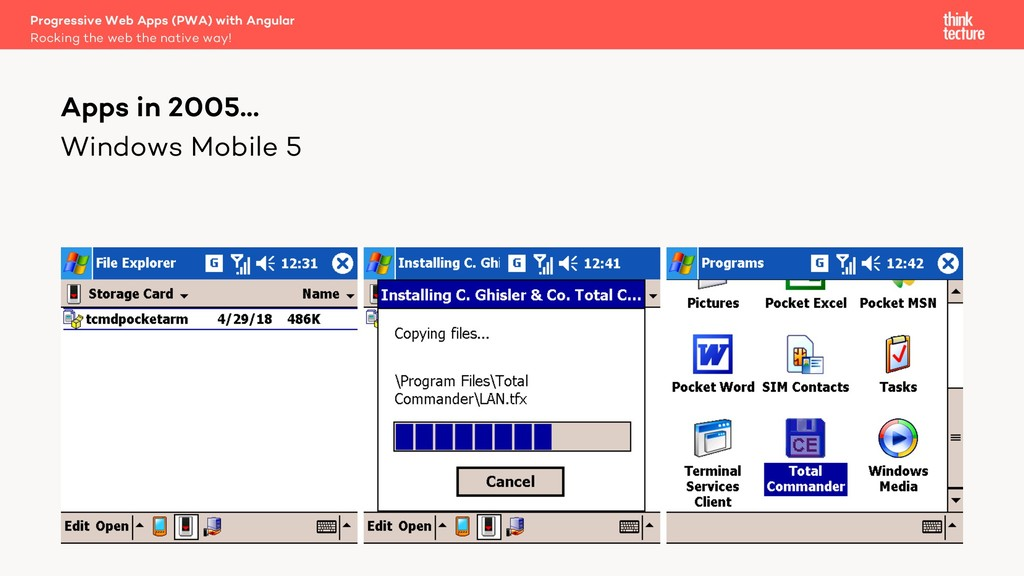 Windows Mobile 5 Apps in 2005… Rocking the web ...