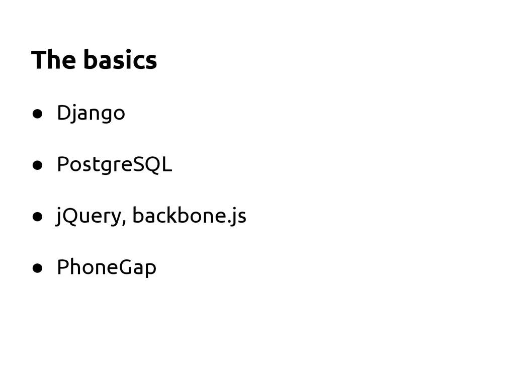 ● Django ● PostgreSQL ● jQuery, backbone.js ● P...
