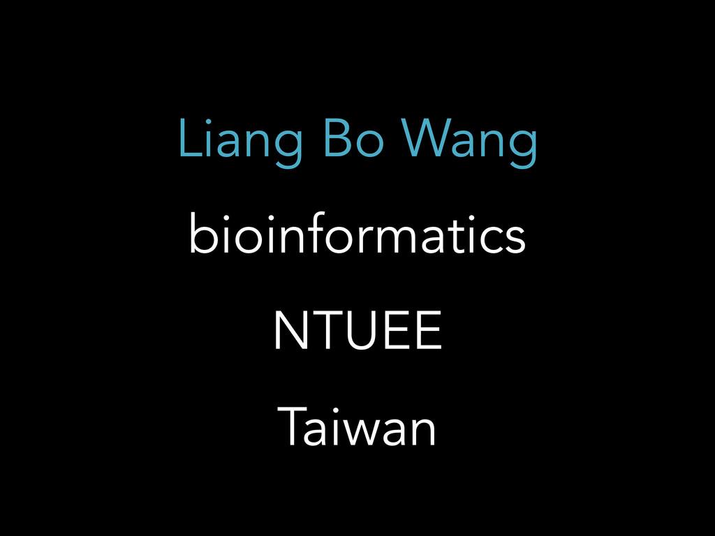 Liang Bo Wang bioinformatics NTUEE Taiwan