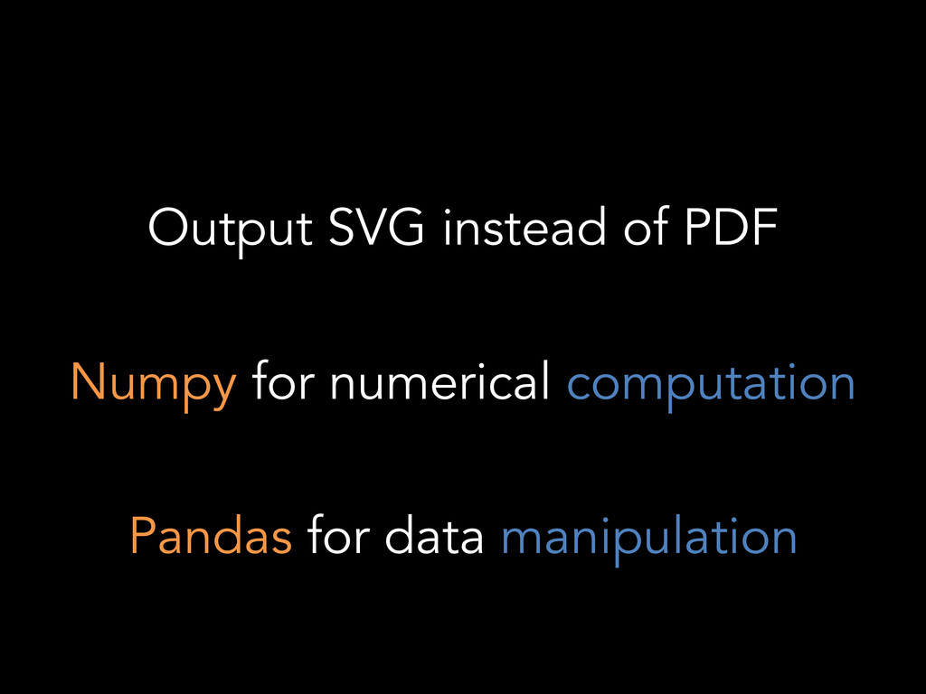 Output SVG instead of PDF Numpy for numerical c...