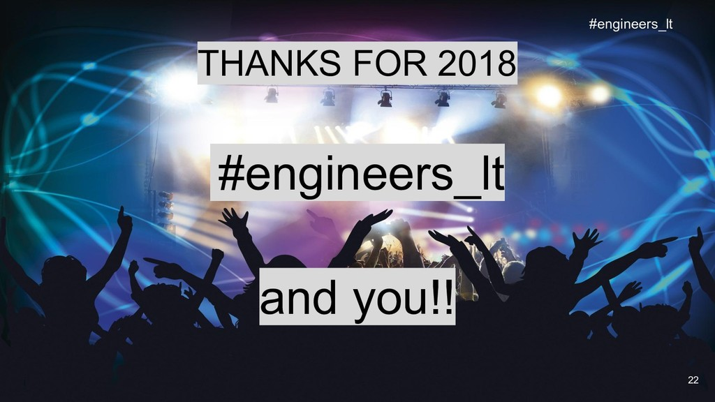 THANKS FOR 2018 #engineers_lt and you!! 22 #eng...