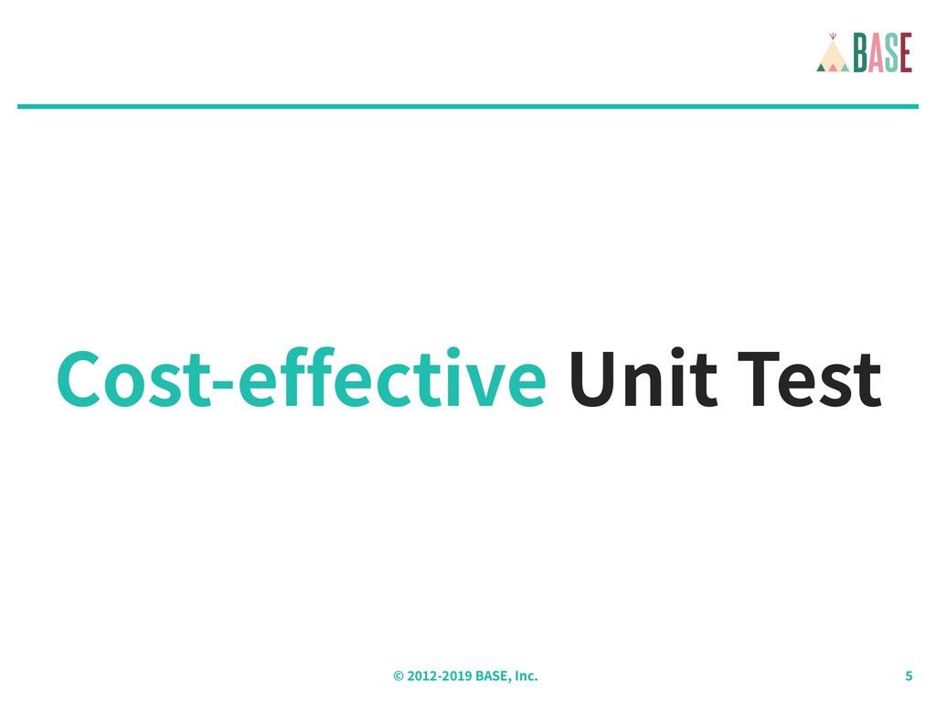 © - BASE, Inc. Cost-effective Unit Test