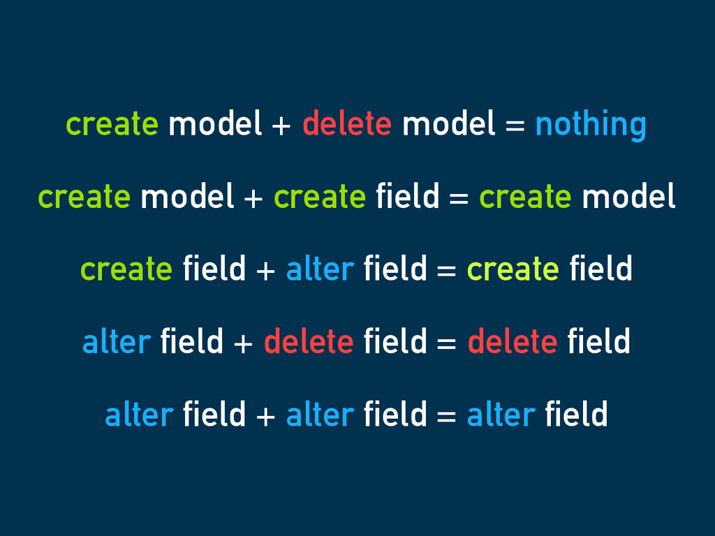create model + delete model = nothing create mo...
