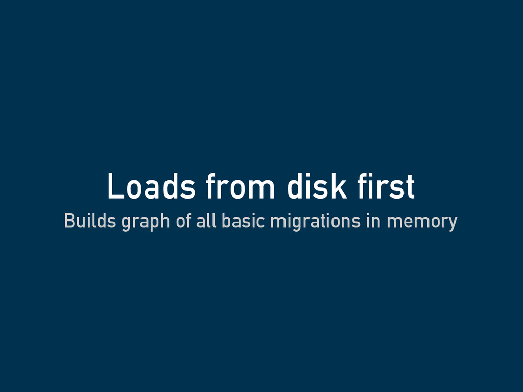 Builds graph of all basic migrations in memory ...
