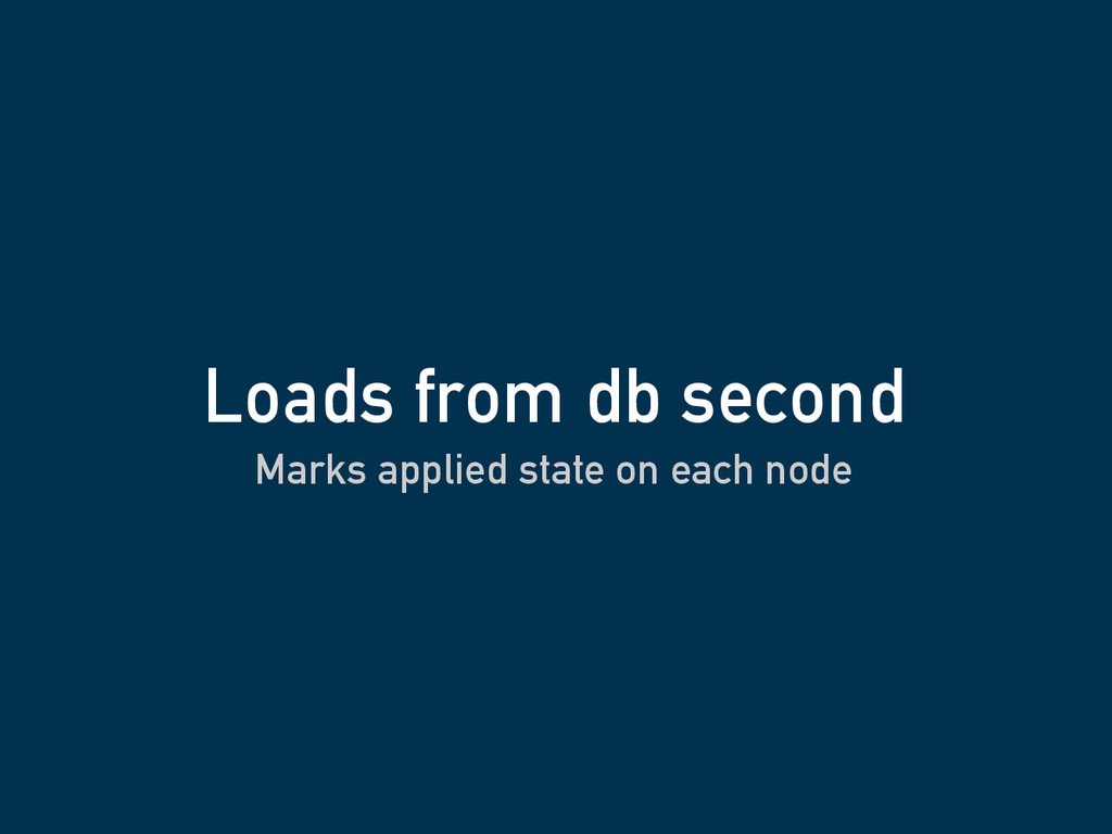 Marks applied state on each node Loads from db ...
