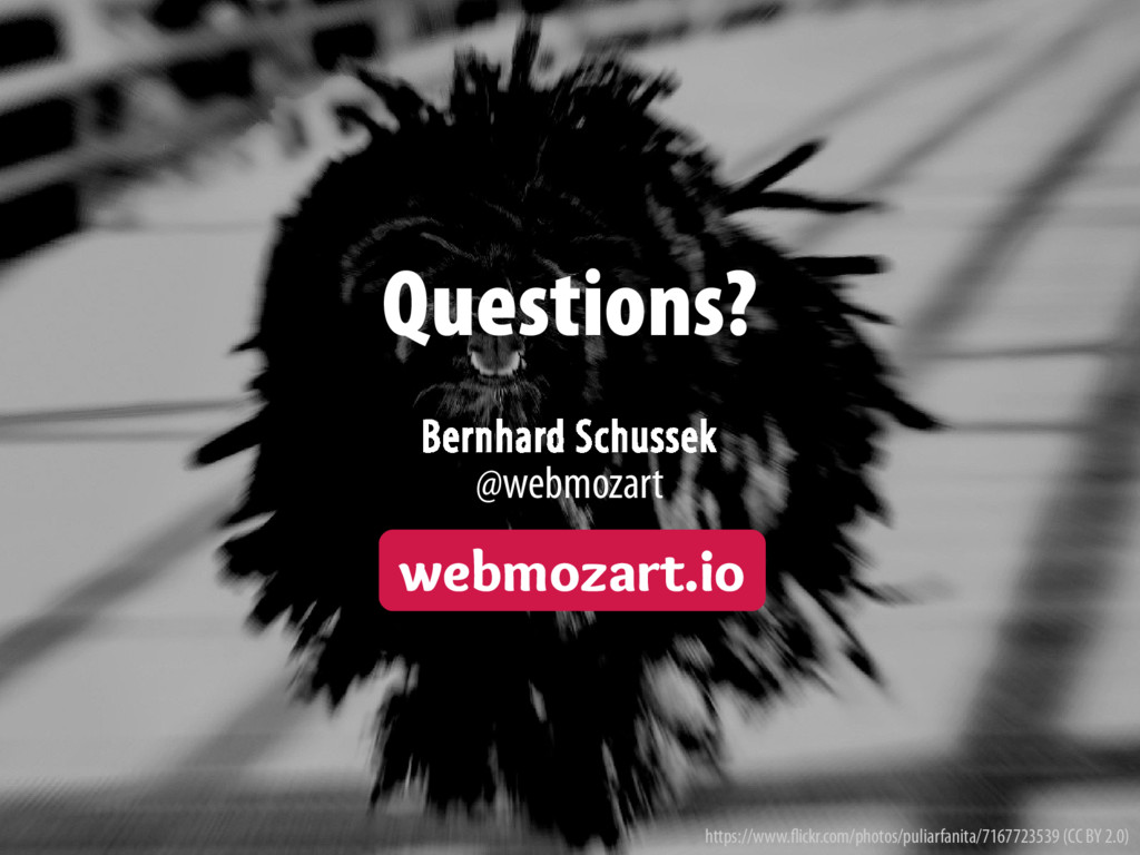 Bernhard Schussek · webmozart.io 117/114 Questi...