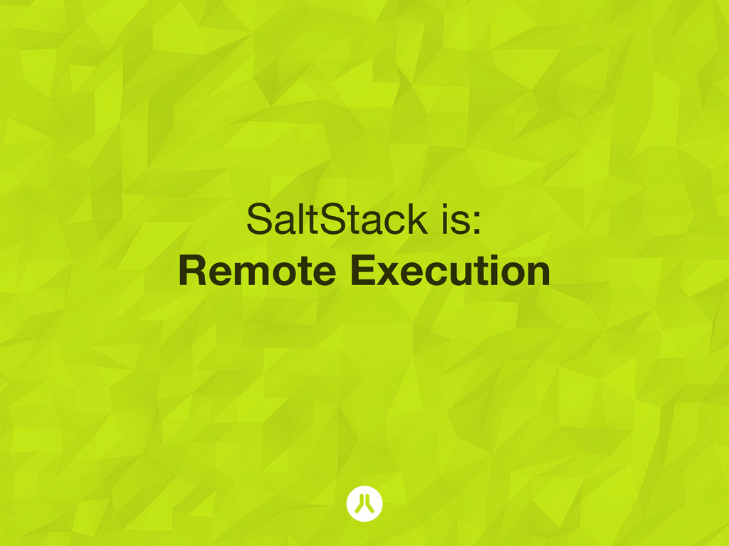 SaltStack is: Remote Execution