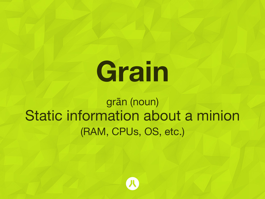 Grain grān (noun) Static information about a mi...