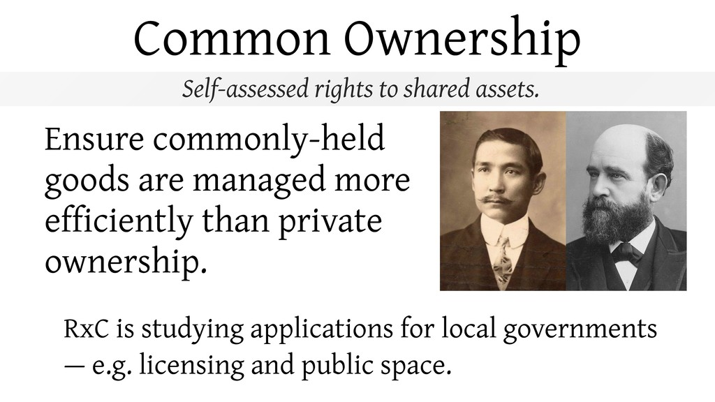 Common Ownership RxC is studying applications f...