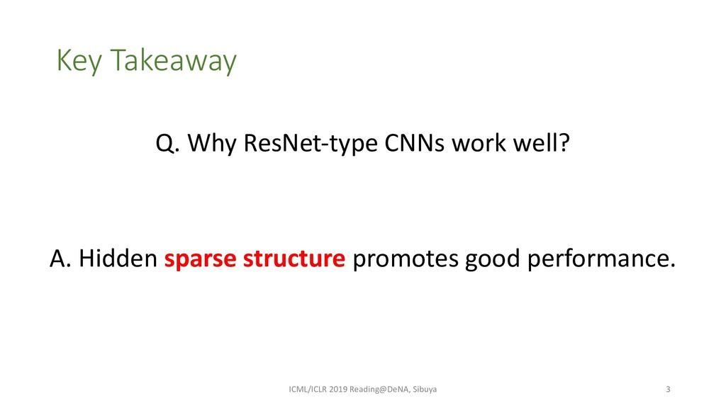 Key Takeaway A. Hidden sparse structure promote...