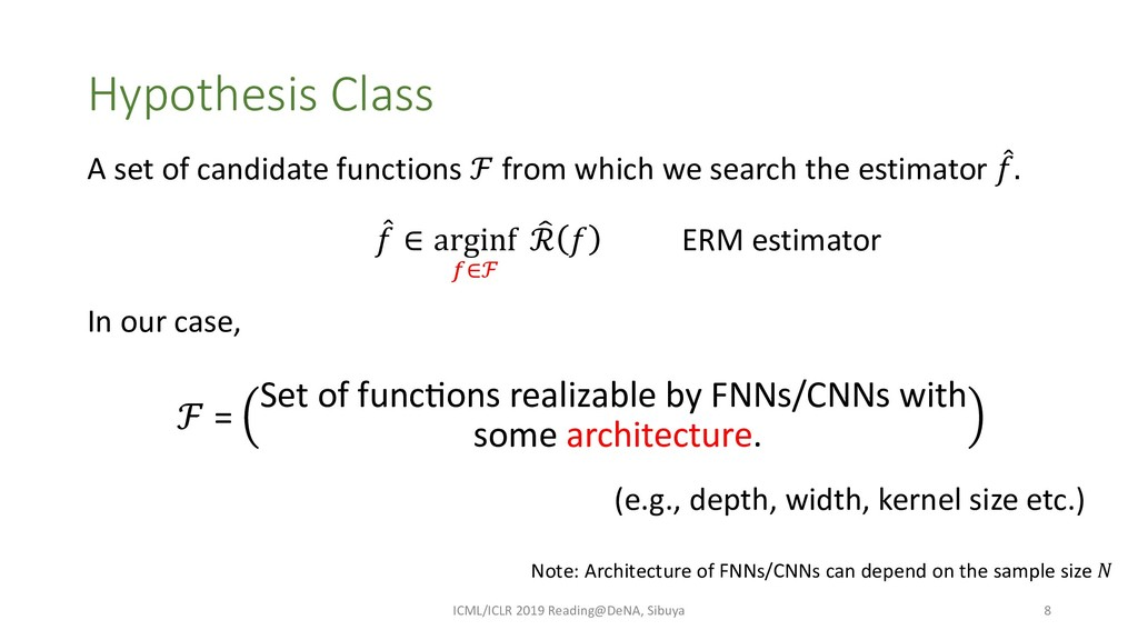 Hypothesis Class A set of candidate functions ℱ...