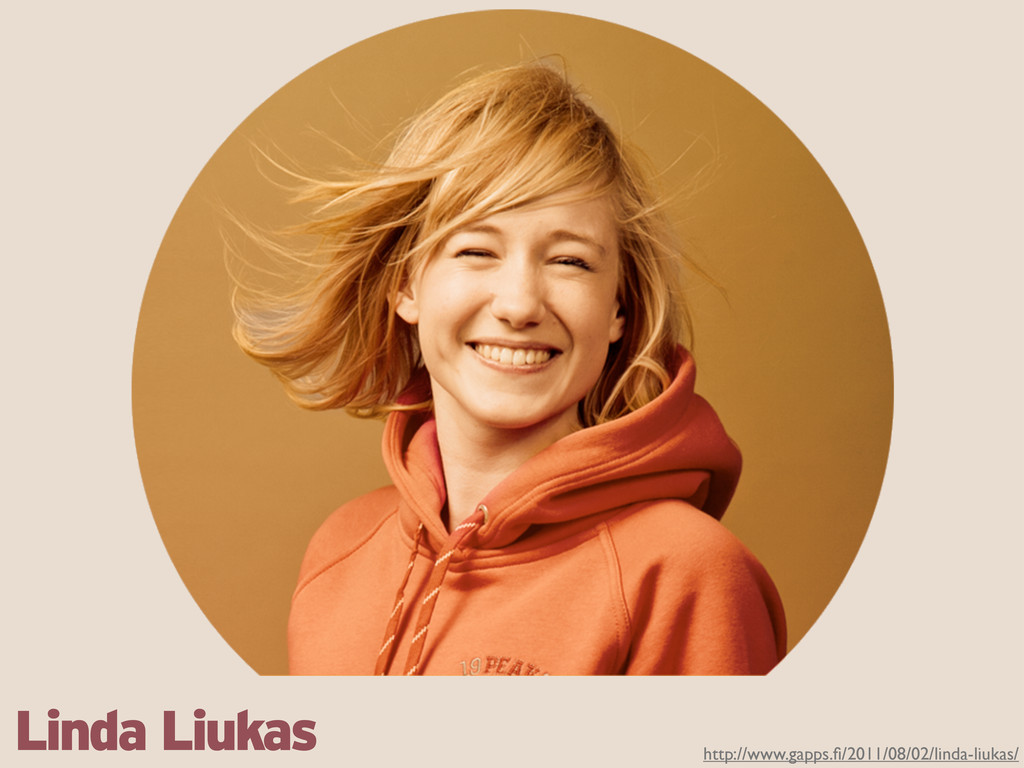 http://www.gapps.fi/2011/08/02/linda-liukas/ Lin...