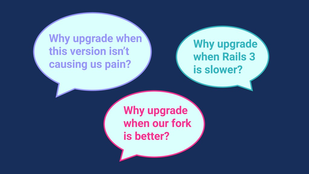 Why upgrade when this version isn't causing us ...