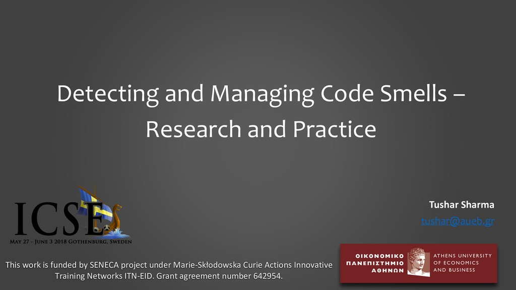 Detecting and Managing Code Smells – Research a...
