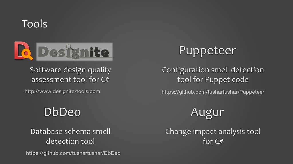 Tools Puppeteer Configuration smell detection t...