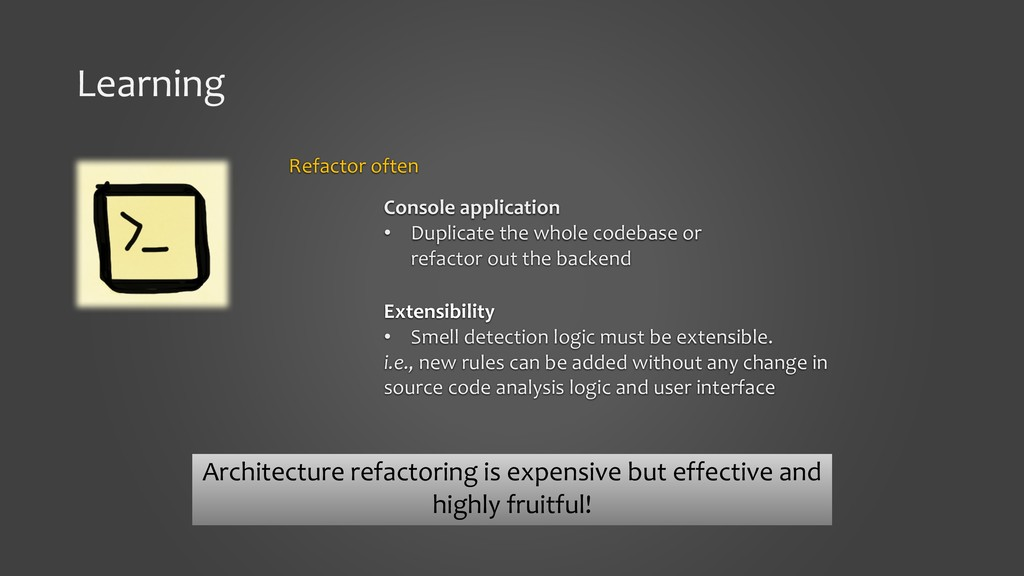 Learning Refactor often Console application • D...