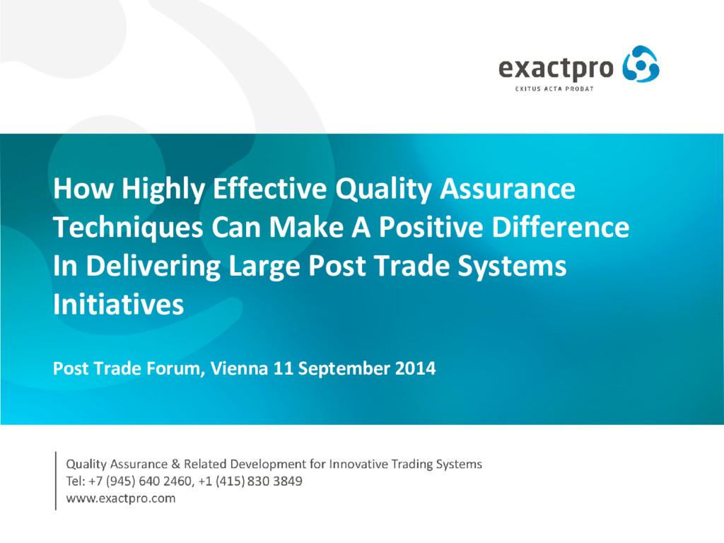 How Highly Effective Quality Assurance Techniqu...