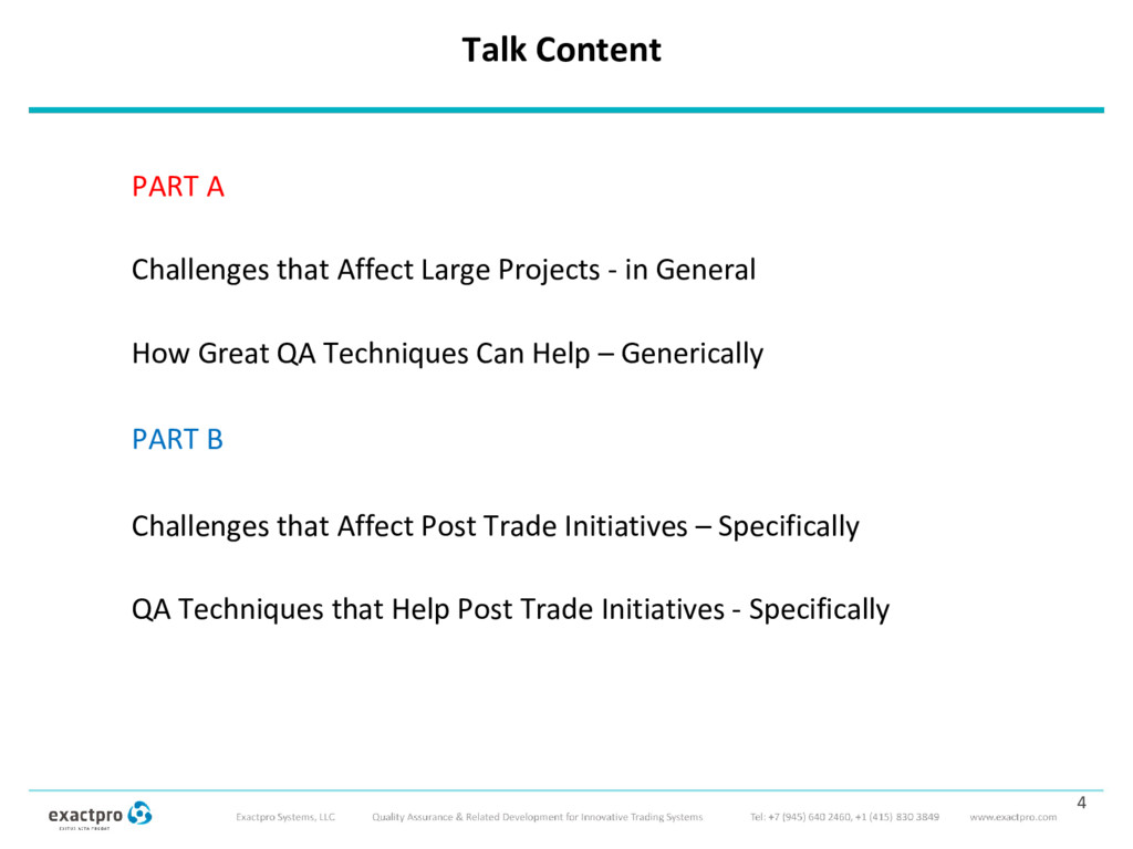Talk Content PART A Challenges that Affect Larg...