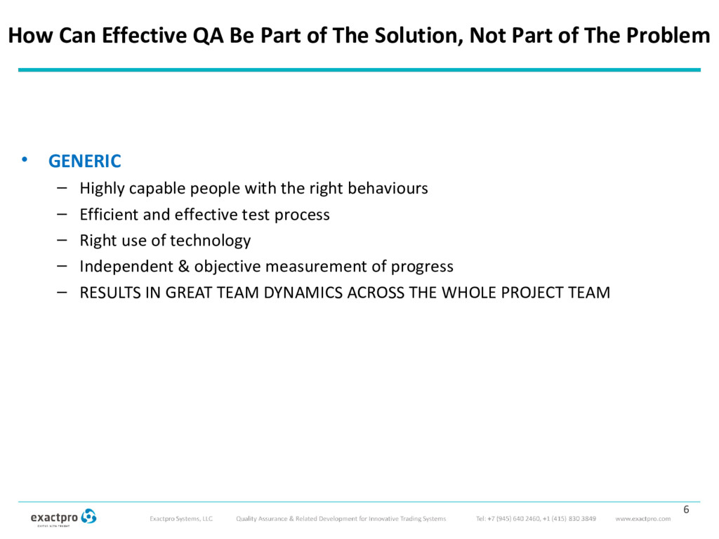 How Can Effective QA Be Part of The Solution, N...