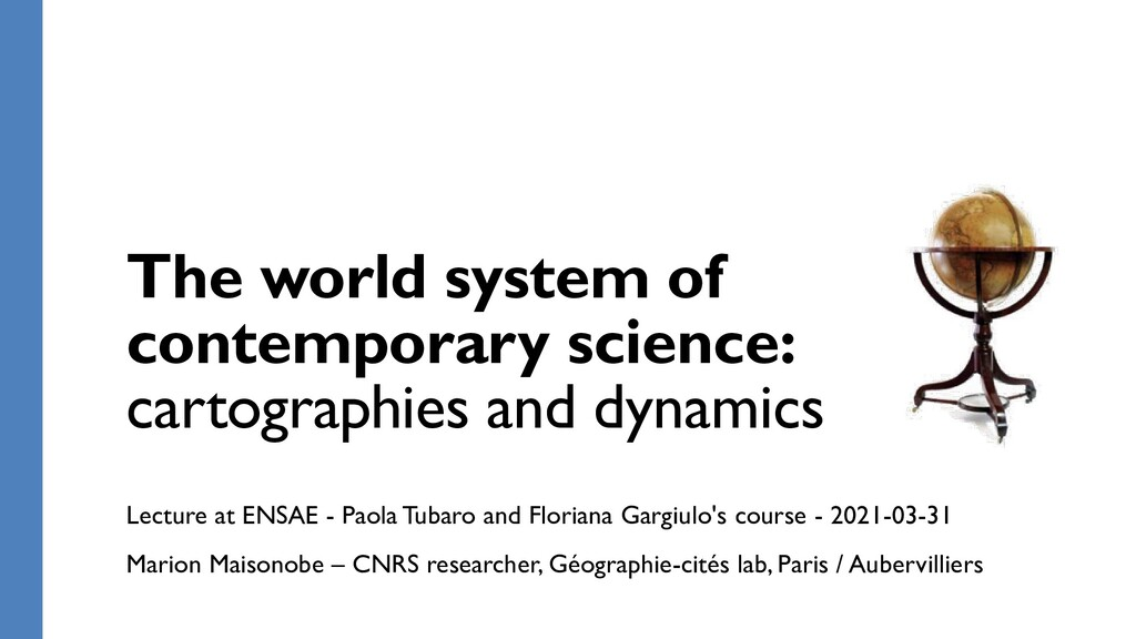 The world system of contemporary science: carto...