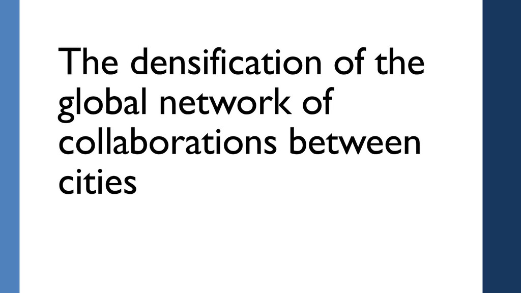 The densification of the global network of coll...