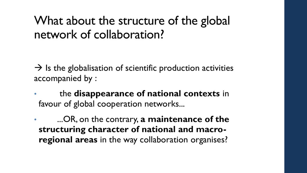 What about the structure of the global network ...