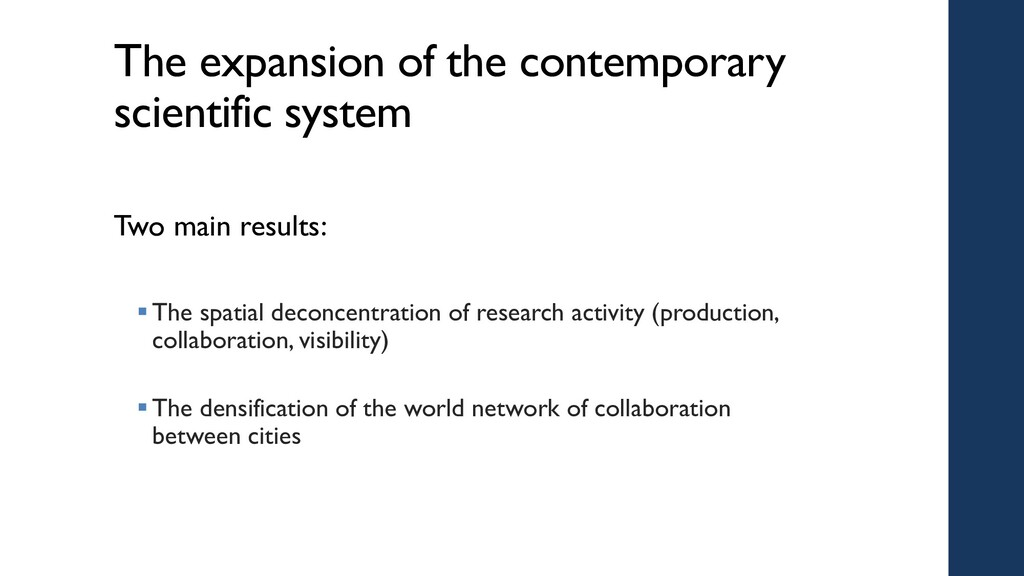 The expansion of the contemporary scientific sy...