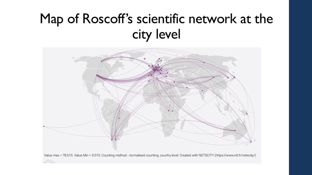 Map of Roscoff's scientific network at the city...