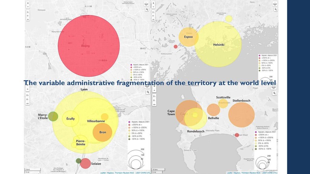 The variable administrative fragmentation of th...
