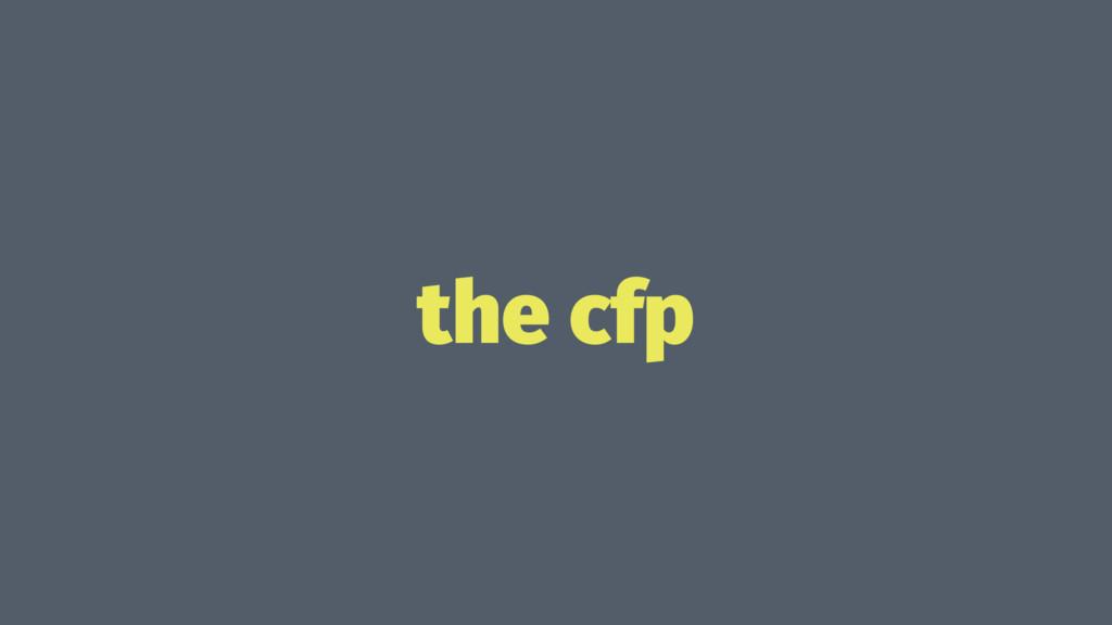 the cfp