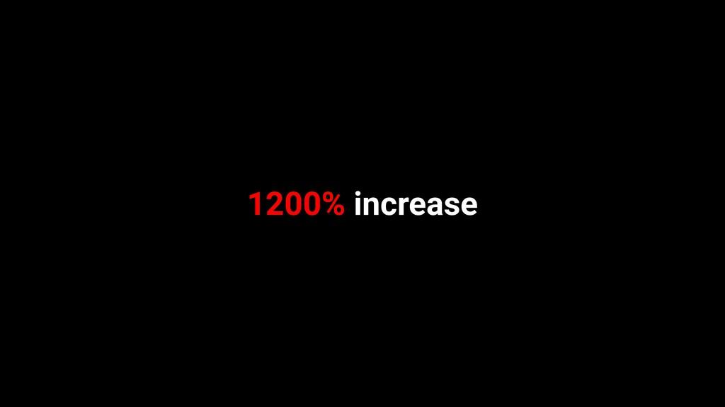 1200% increase