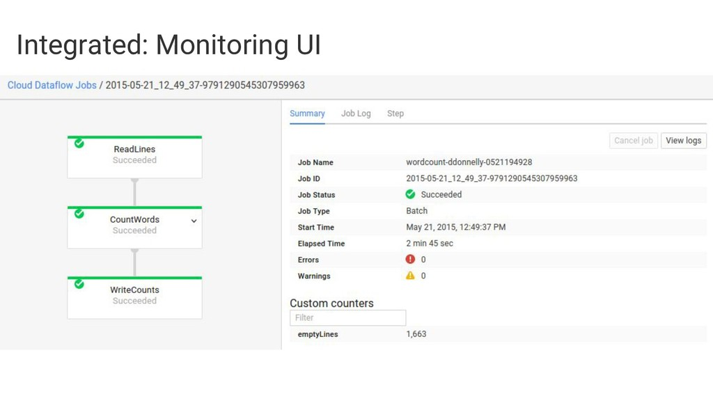Integrated: Monitoring UI