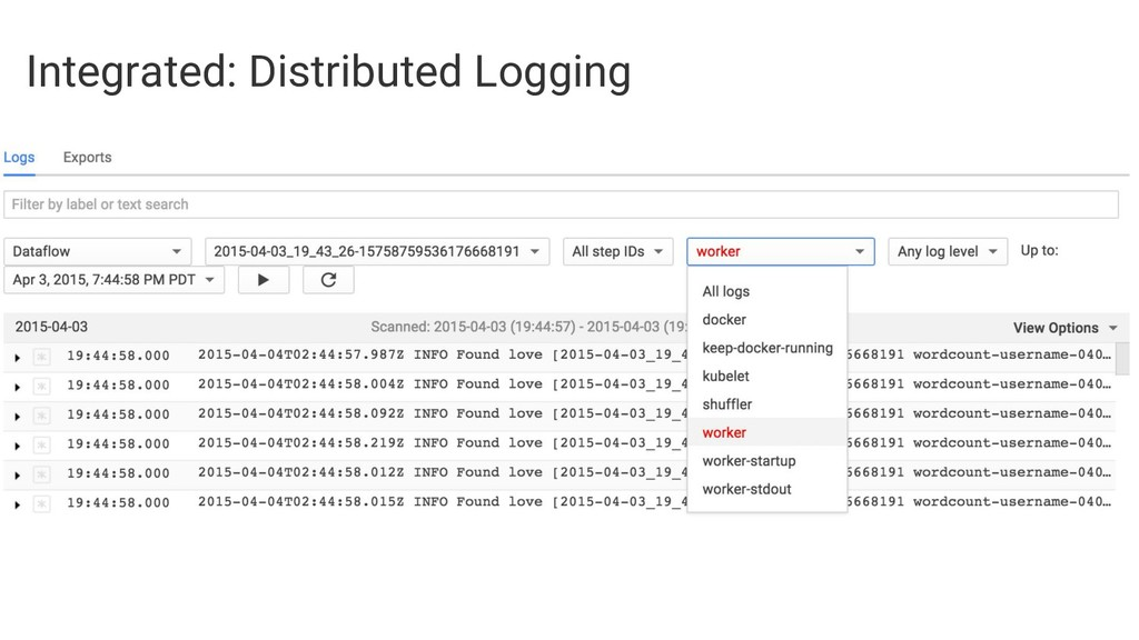 Integrated: Distributed Logging