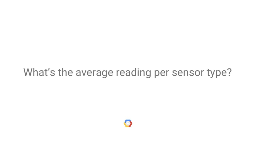 What's the average reading per sensor type?