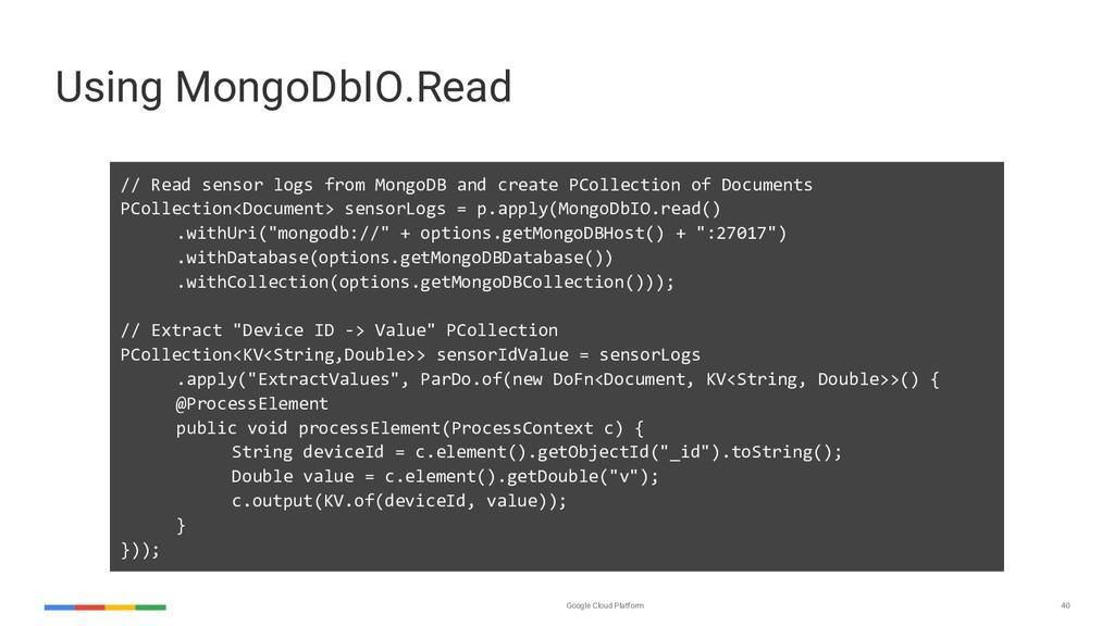 Google Cloud Platform 40 // Read sensor logs fr...
