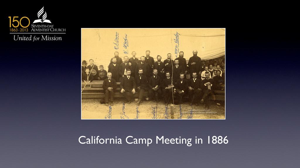 California Camp Meeting in 1886