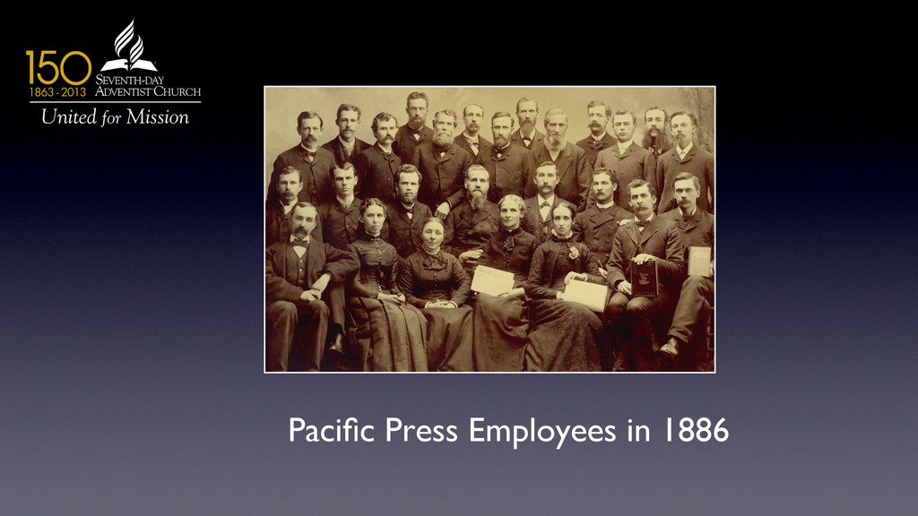 Pacific Press Employees in 1886